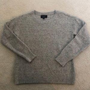 Banana Republic metallic grey sweater